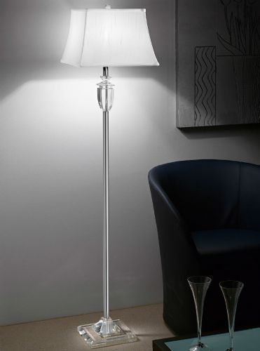 Franklite SL161 Chrome Floor Lamp (Class 2 Double Insulated)